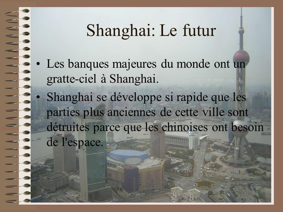 Shanghai: Le futur Les banques majeures du monde ont un gratte-ciel à Shanghai.