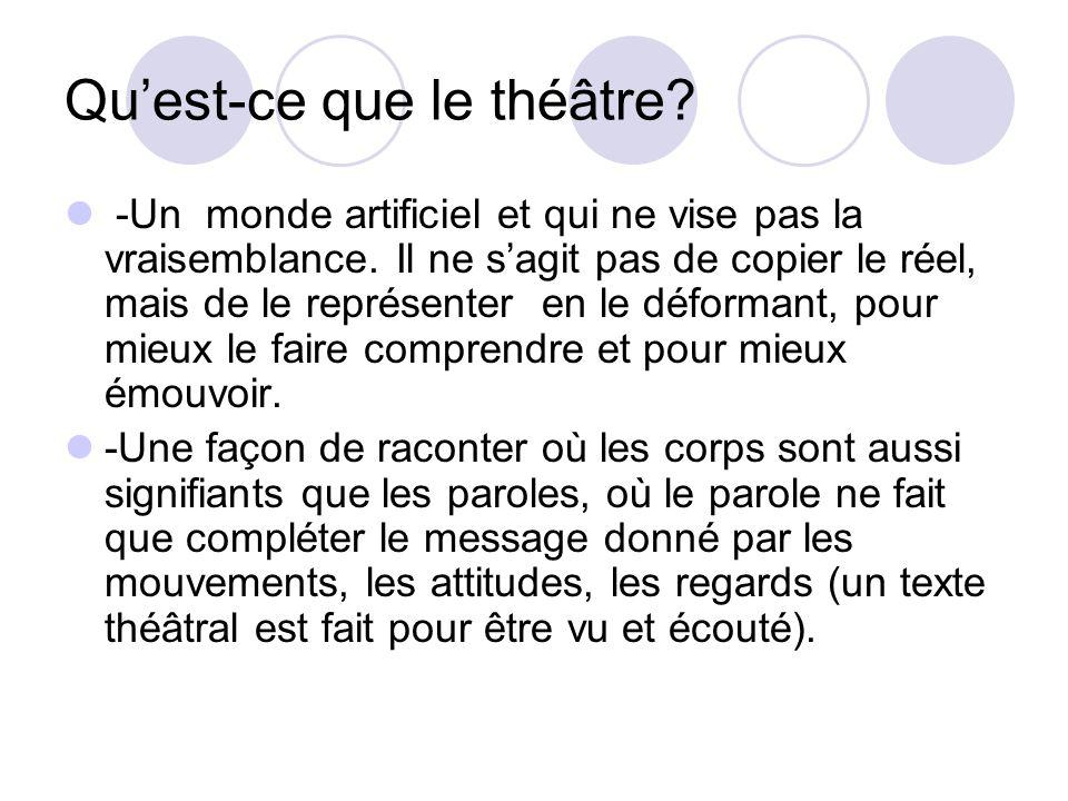 Qu'est-ce que le théâtre