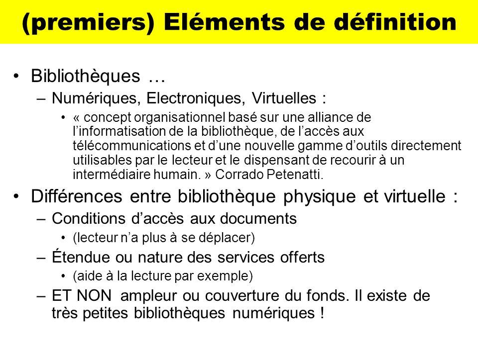 (premiers) Eléments de définition