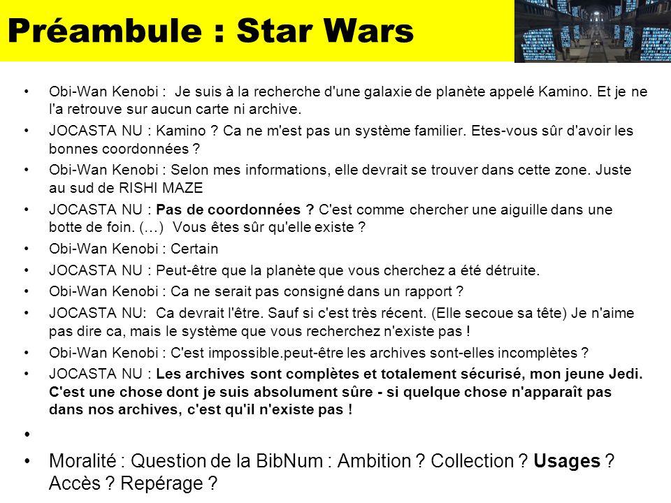 Préambule : Star Wars