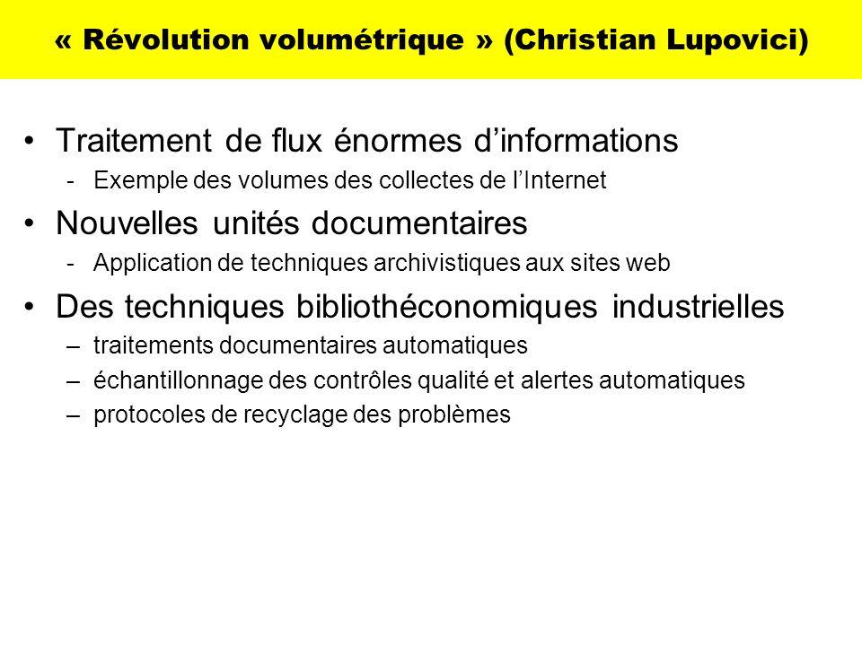 « Révolution volumétrique » (Christian Lupovici)