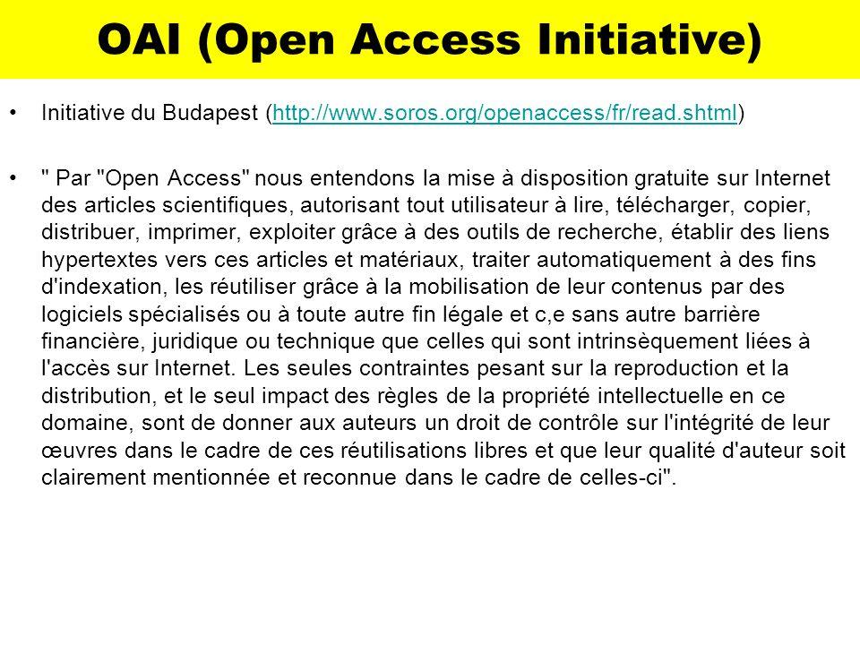 OAI (Open Access Initiative)