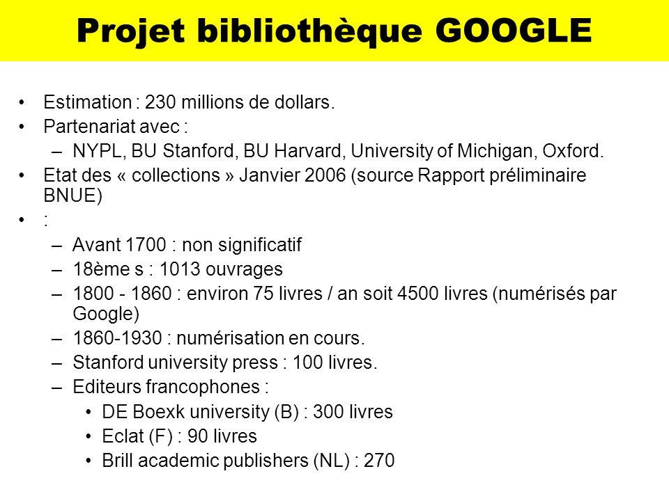 Projet bibliothèque GOOGLE