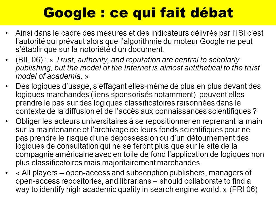 Google : ce qui fait débat