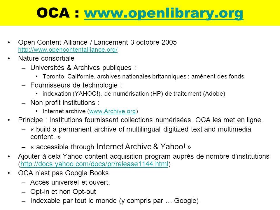 OCA : www.openlibrary.org