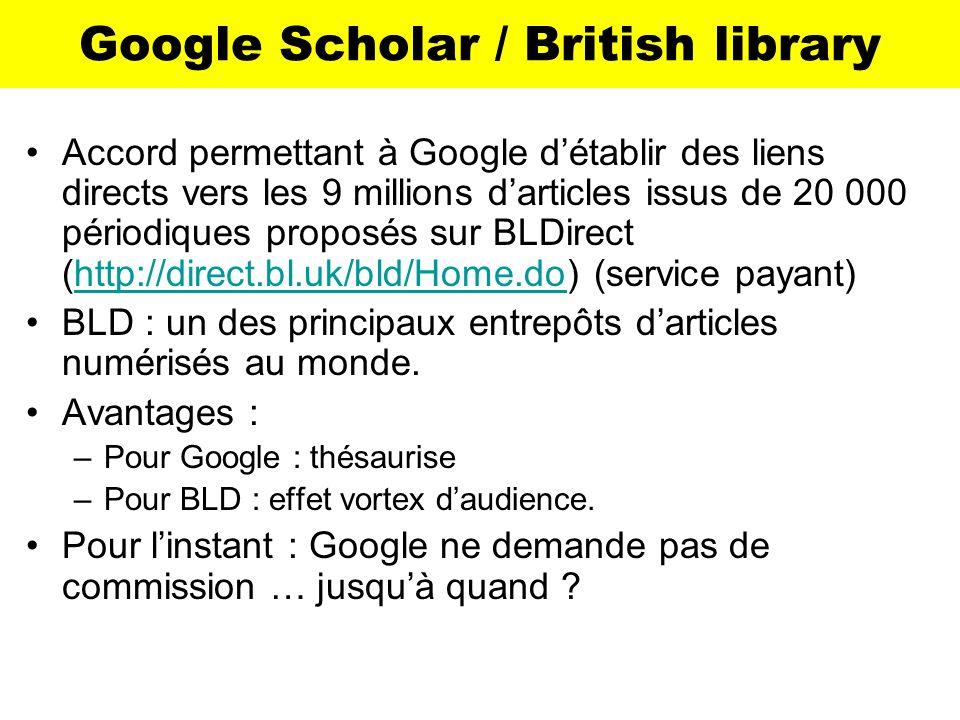 Google Scholar / British library