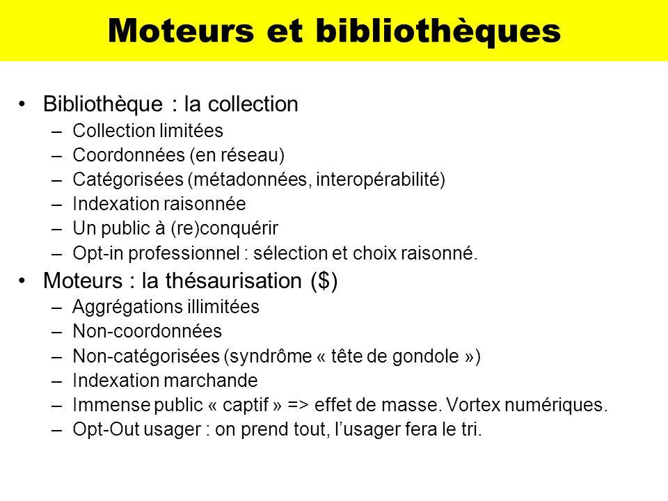 Moteurs et bibliothèques