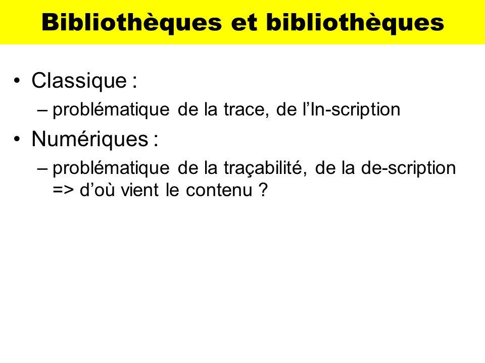 Bibliothèques et bibliothèques