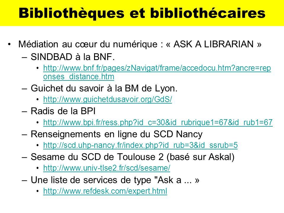 Bibliothèques et bibliothécaires