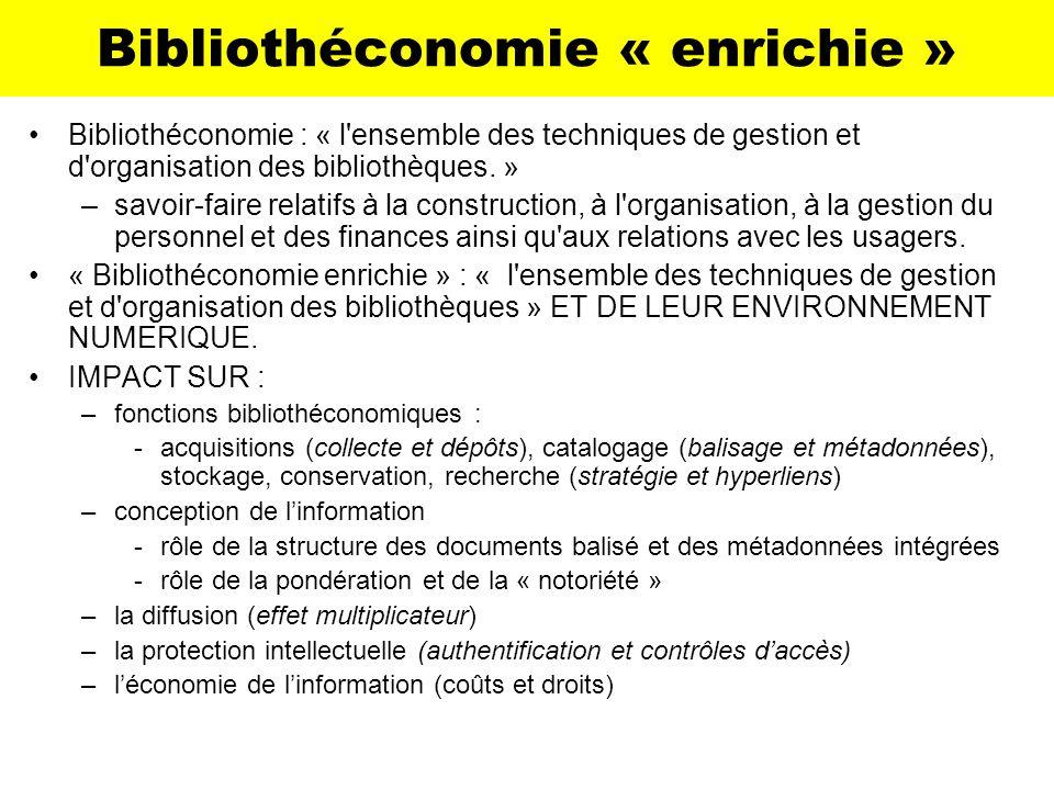 Bibliothéconomie « enrichie »