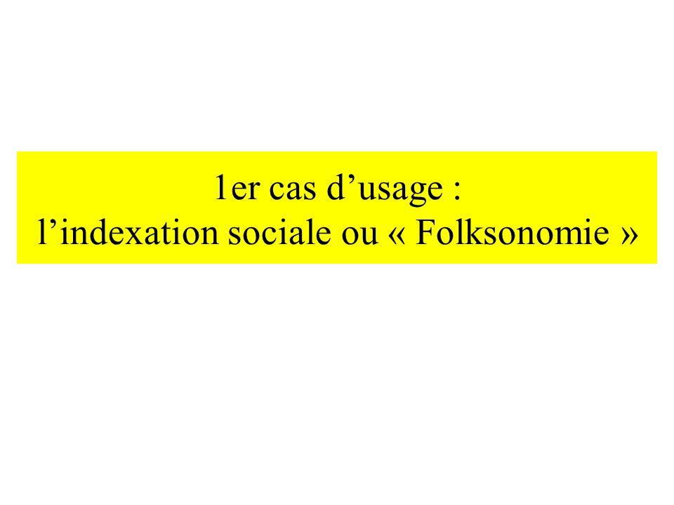 1er cas d'usage : l'indexation sociale ou « Folksonomie »