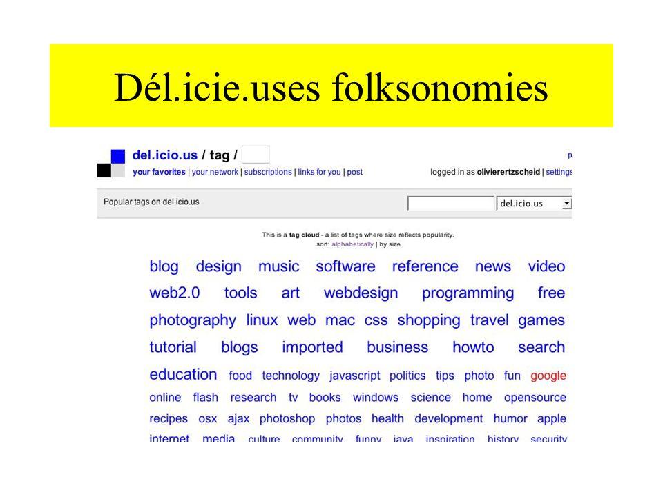 Dél.icie.uses folksonomies
