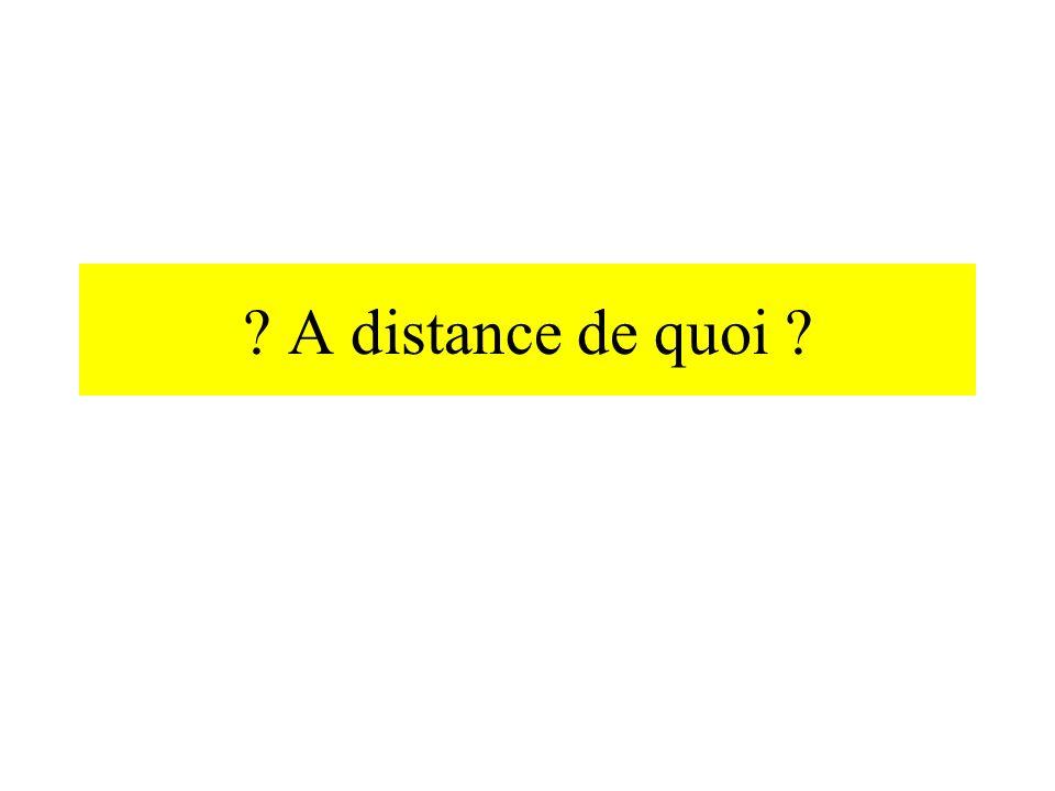 A distance de quoi