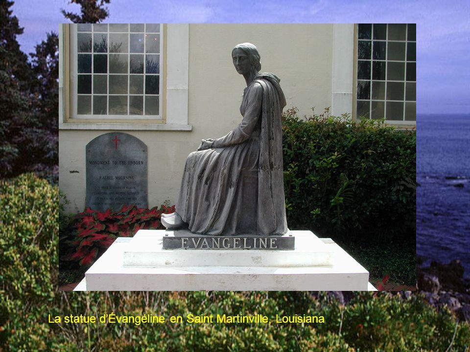 La statue d'Évangéline en Saint Martinville, Louisiana