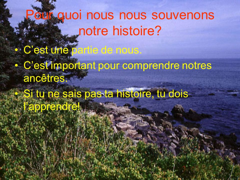 Pour quoi nous nous souvenons notre histoire