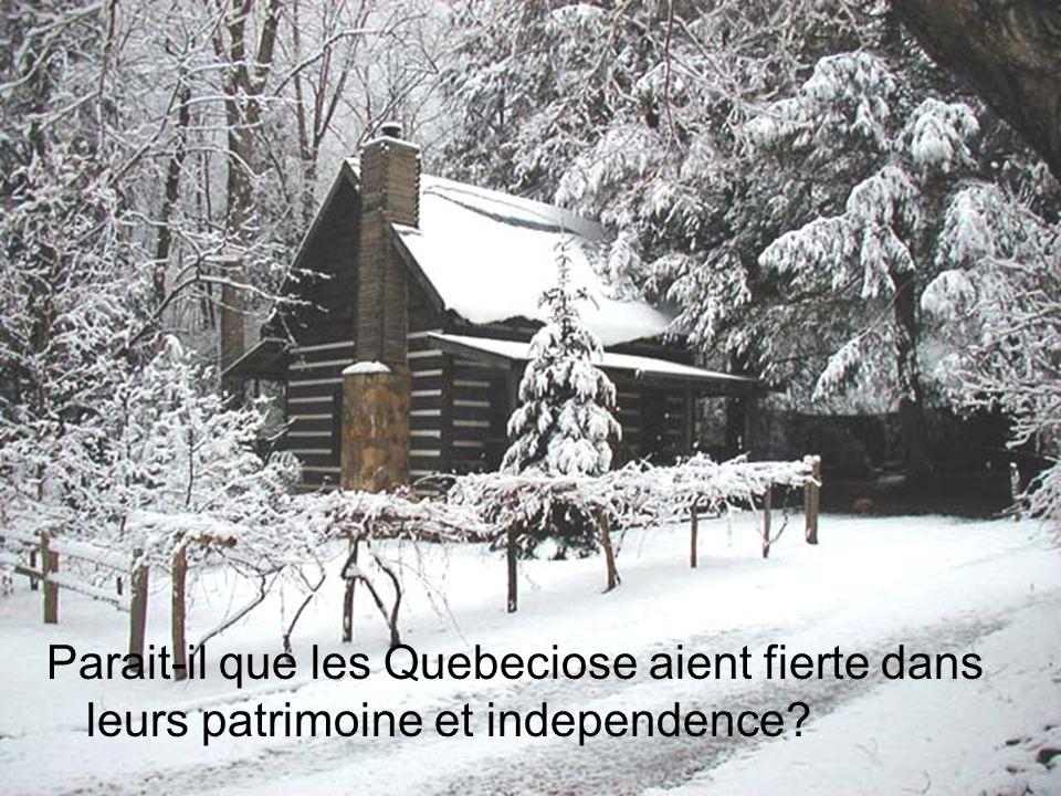 Parait-il que les Quebeciose aient fierte dans leurs patrimoine et independence