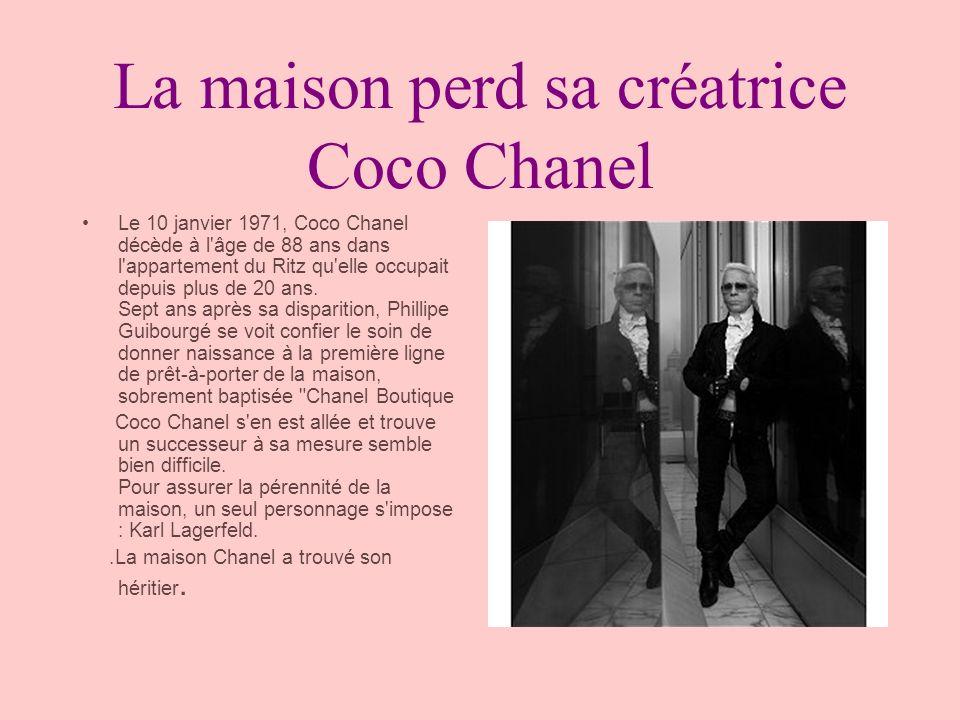 La maison perd sa créatrice Coco Chanel