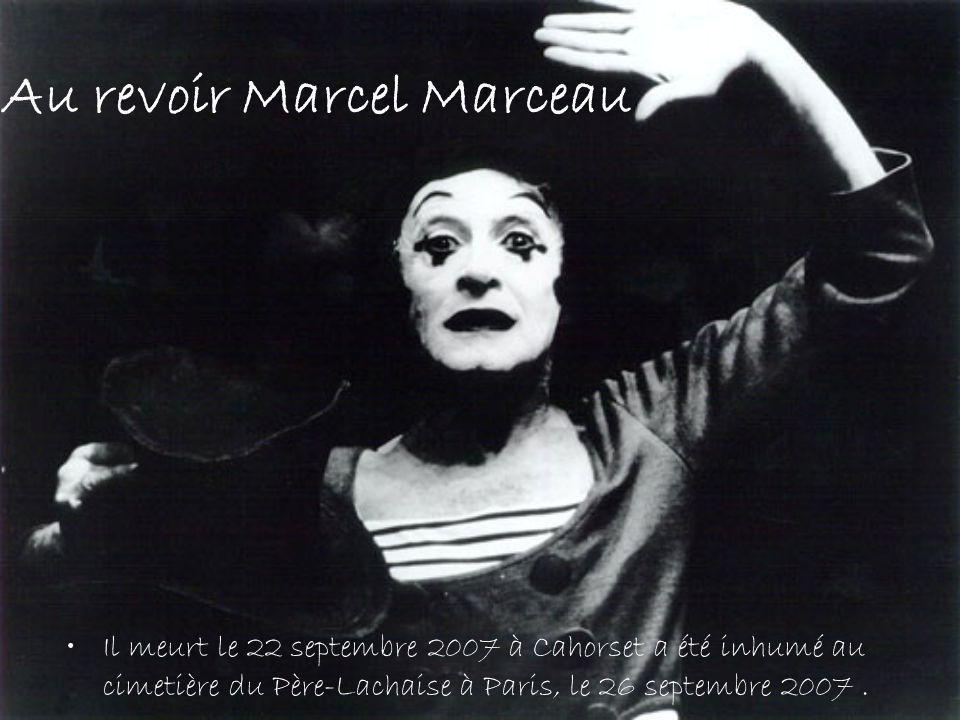 Au revoir Marcel Marceau