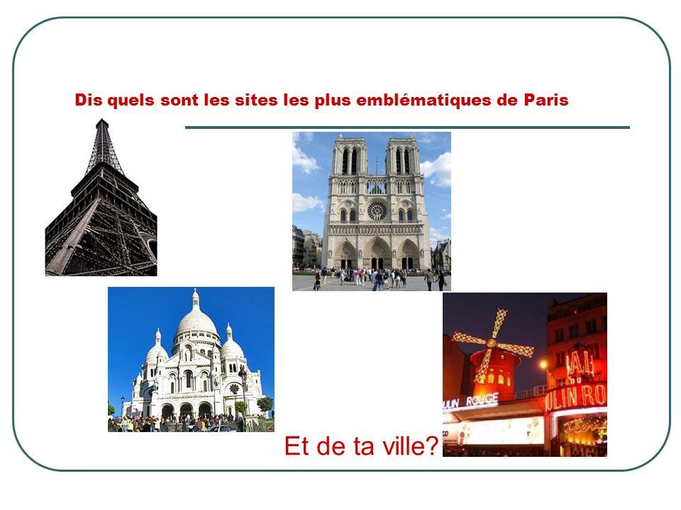 Dis quels sont les sites les plus emblématiques de Paris