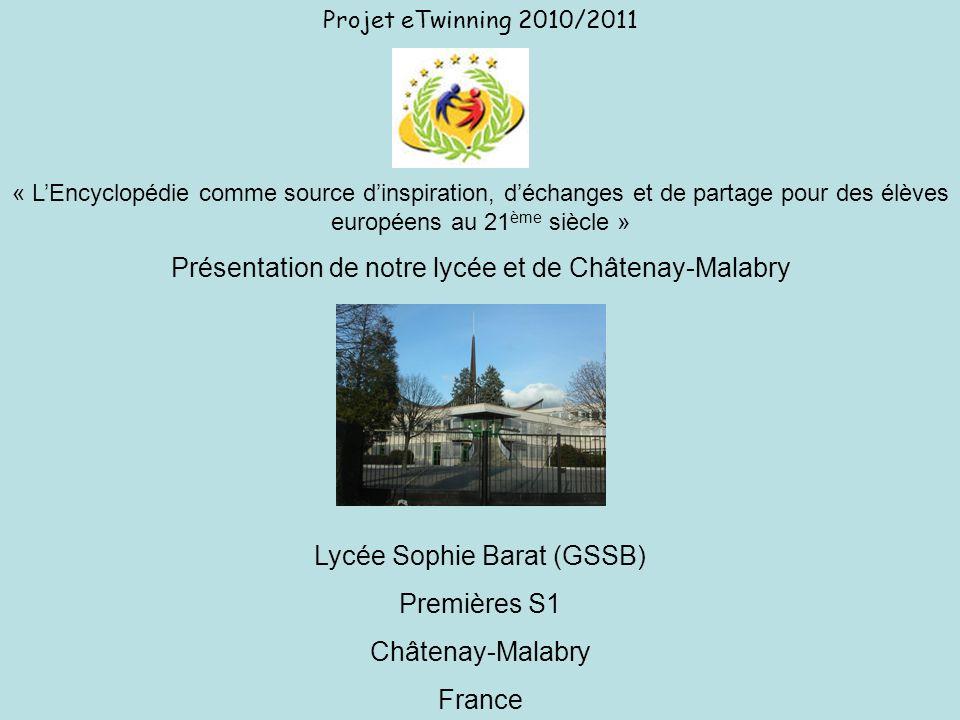 Présentation de notre lycée et de Châtenay-Malabry