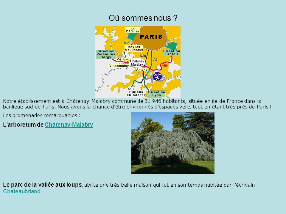 Où sommes nous L'arboretum de Châtenay-Malabry