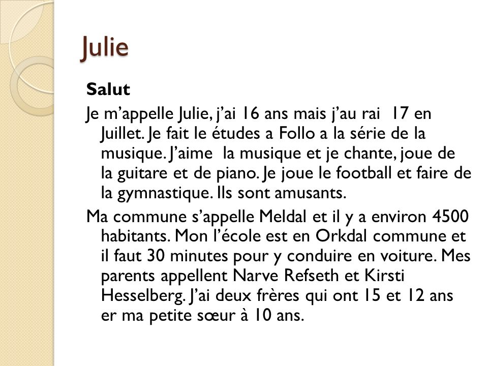 Julie Salut.
