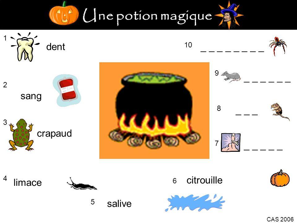 Une potion magique dent _ _ _ _ _ _ _ _ _ _ _ _ _ _ sang _ _ _ crapaud
