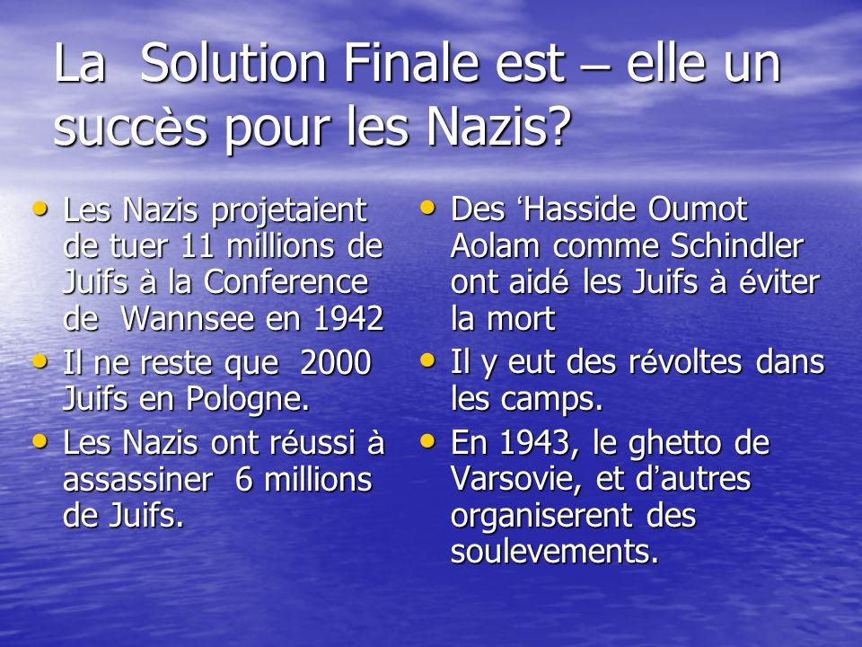 La Solution Finale est – elle un succès pour les Nazis