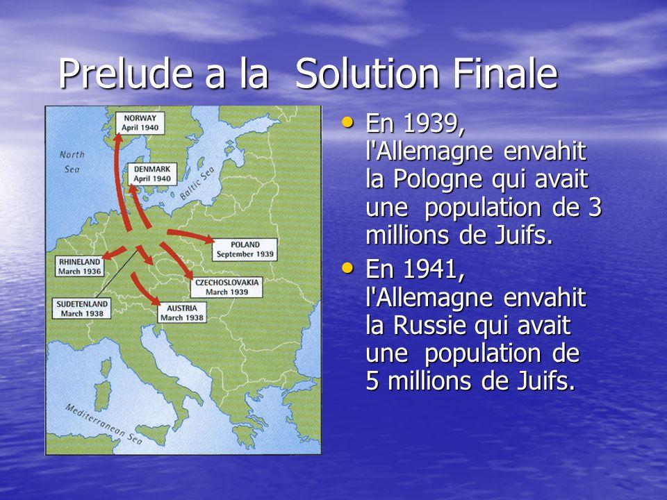 Prelude a la Solution Finale