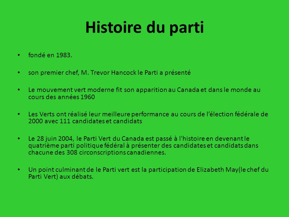 Histoire du parti fondé en 1983.