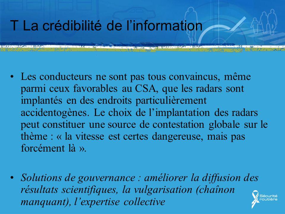 T La crédibilité de l'information