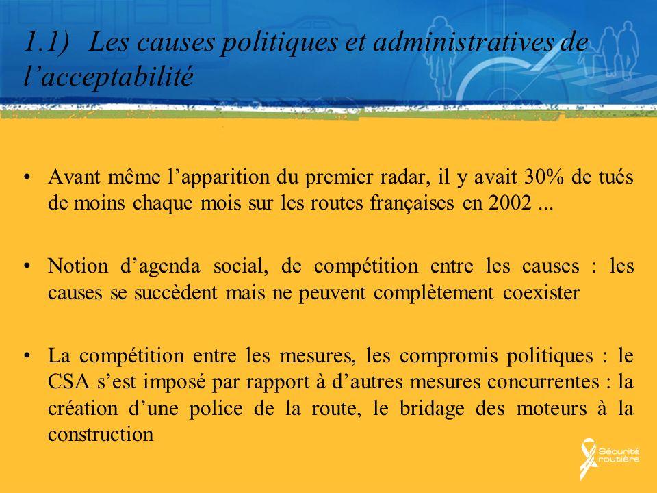 1.1) Les causes politiques et administratives de l'acceptabilité