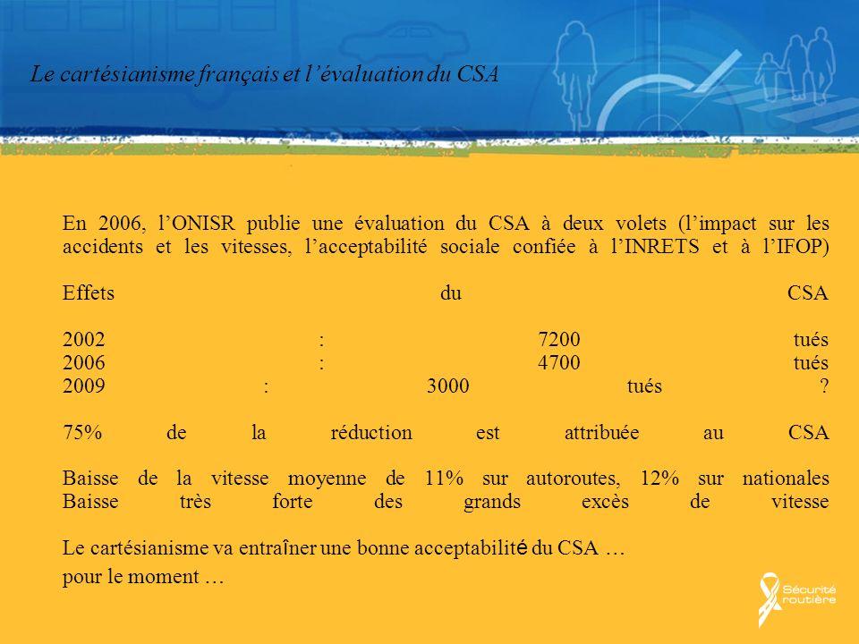 Le cartésianisme français et l'évaluation du CSA