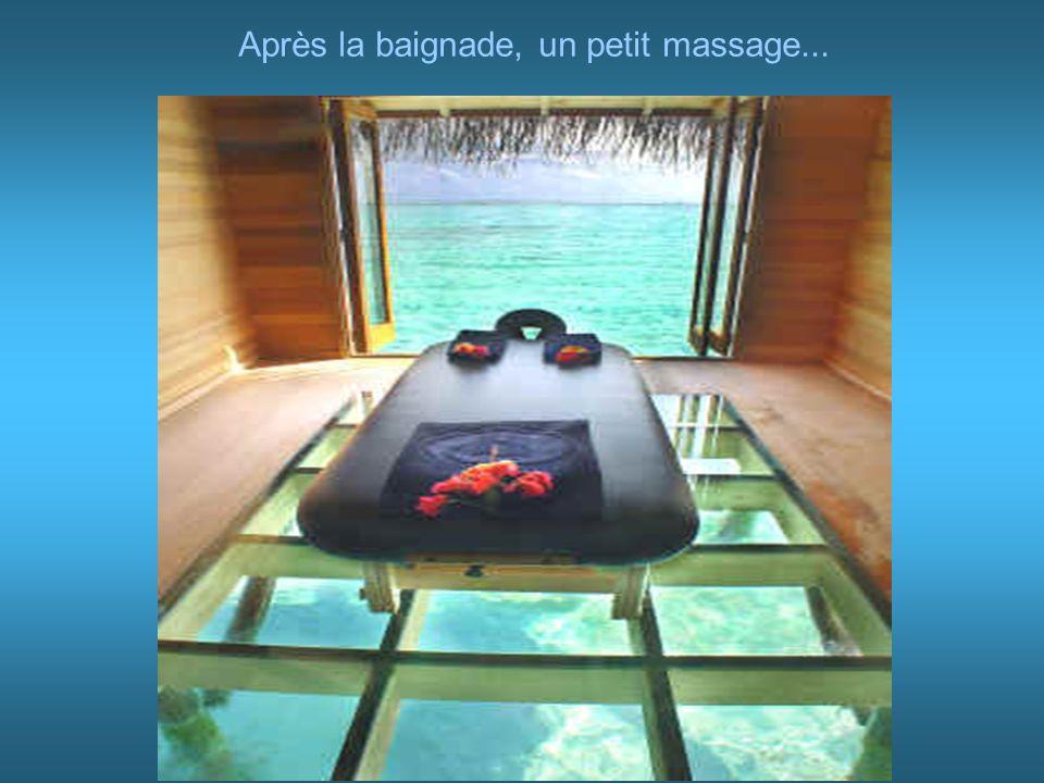 Après la baignade, un petit massage...