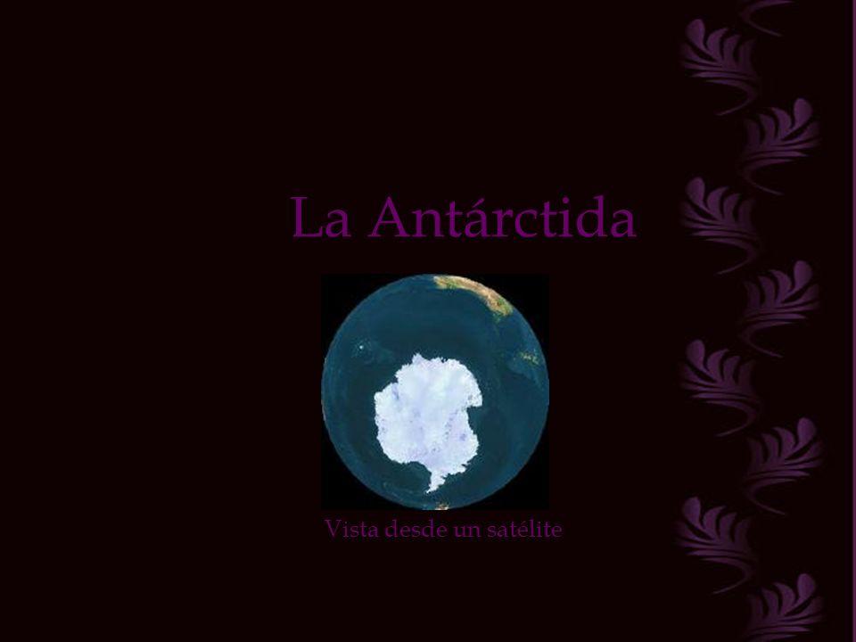La Antárctida Vista desde un satélite