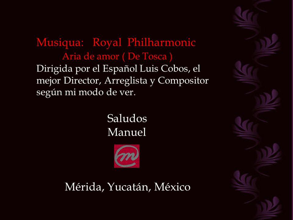 Musiqua: Royal Philharmonic Aria de amor ( De Tosca )