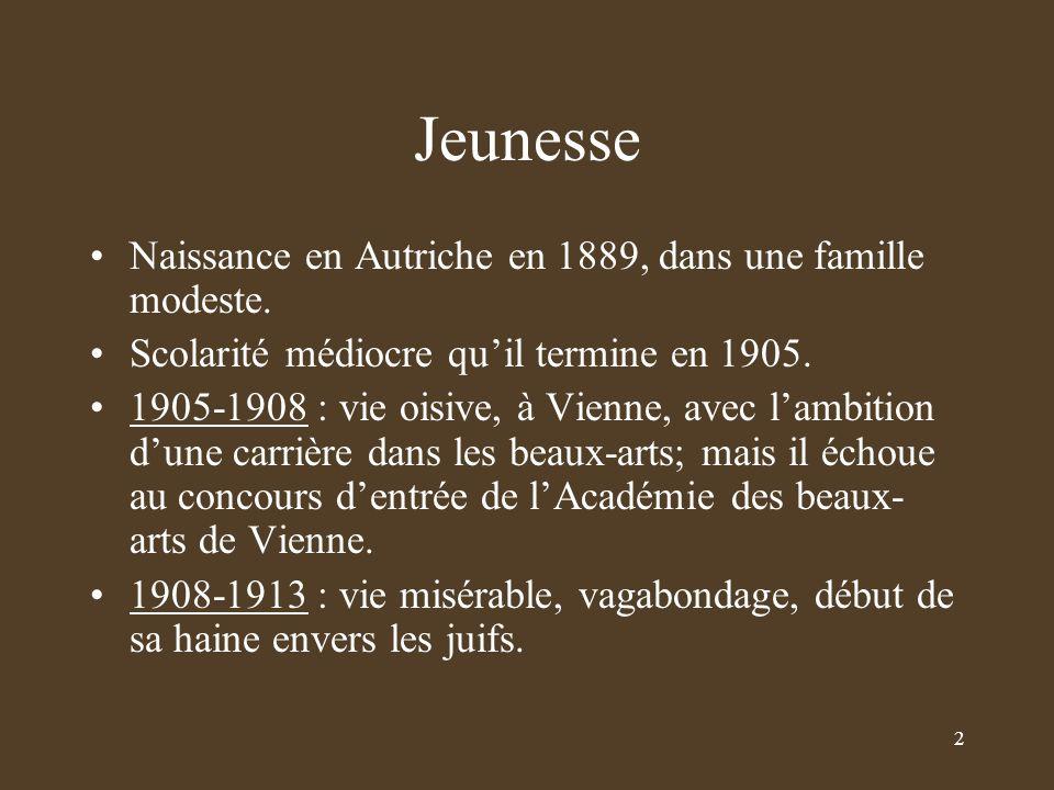 Jeunesse Naissance en Autriche en 1889, dans une famille modeste.