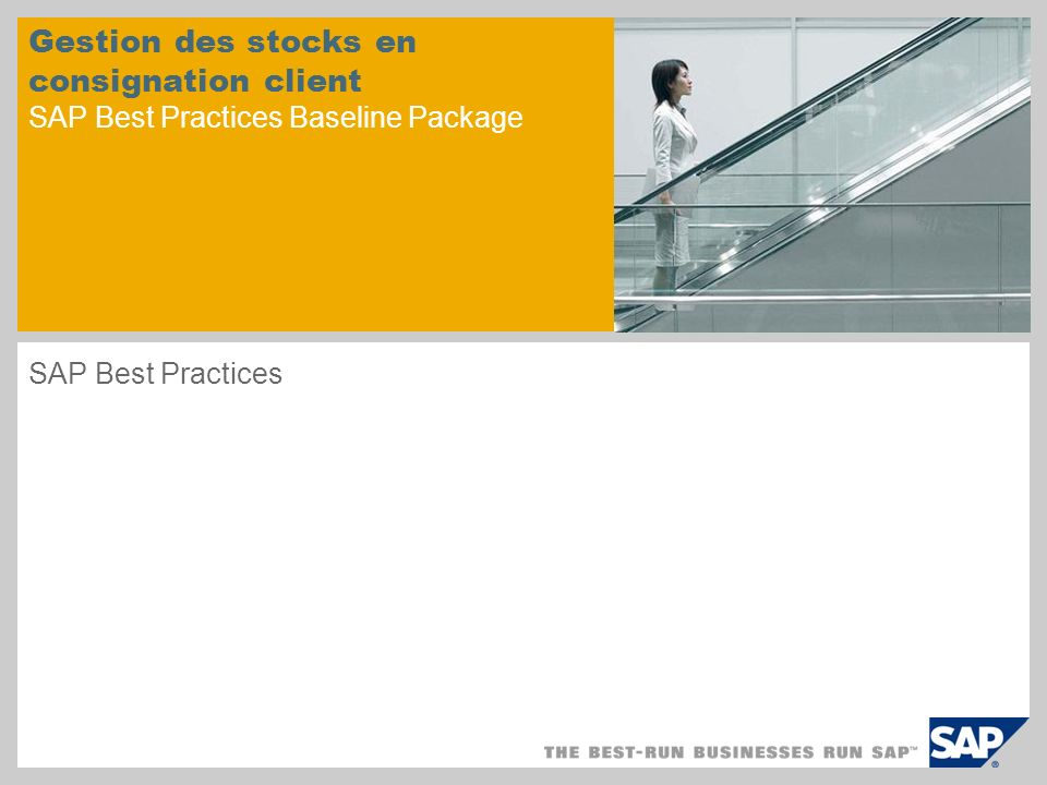 Gestion des stocks en consignation client SAP Best Practices Baseline Package