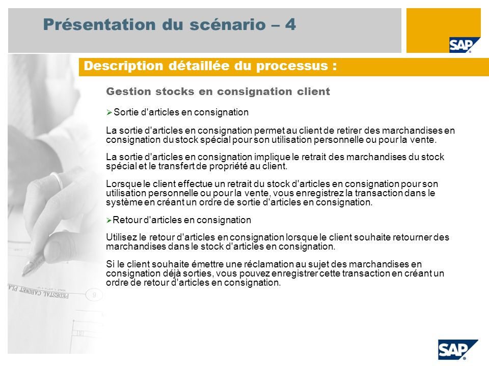 Présentation du scénario – 4