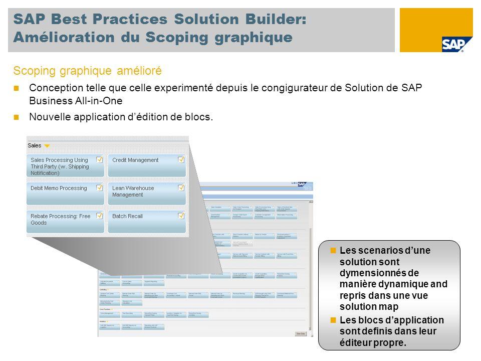 SAP Best Practices Solution Builder: Amélioration du Scoping graphique