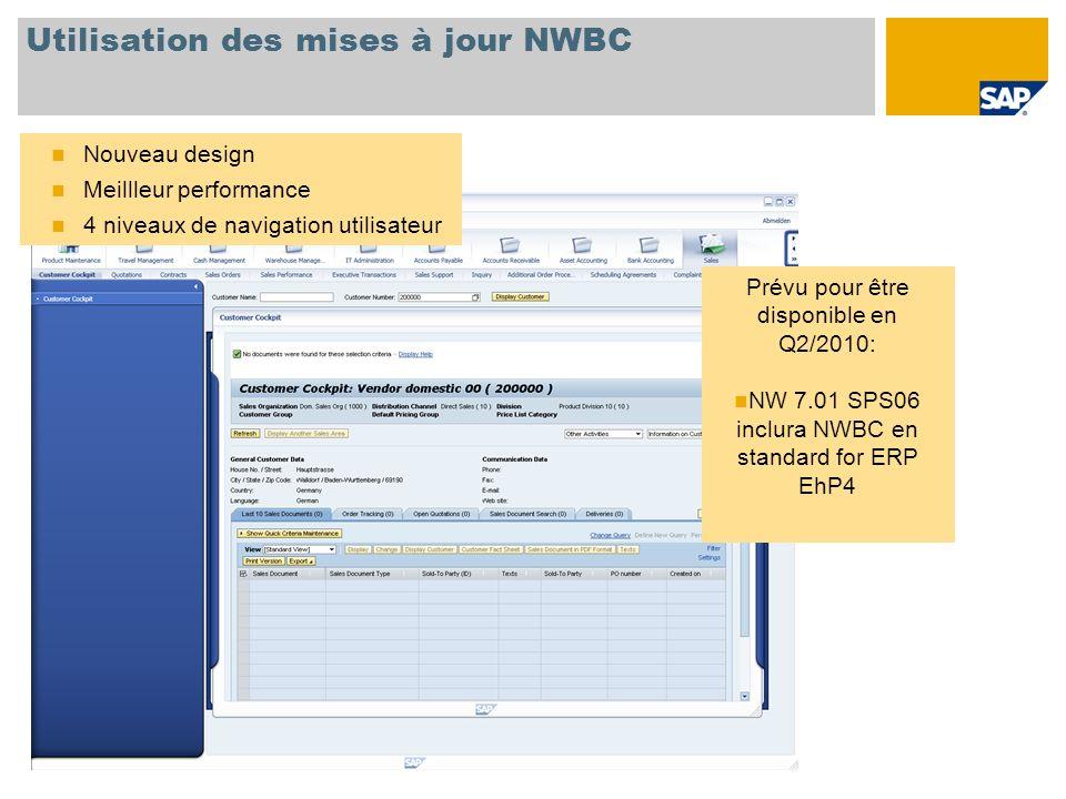 Utilisation des mises à jour NWBC