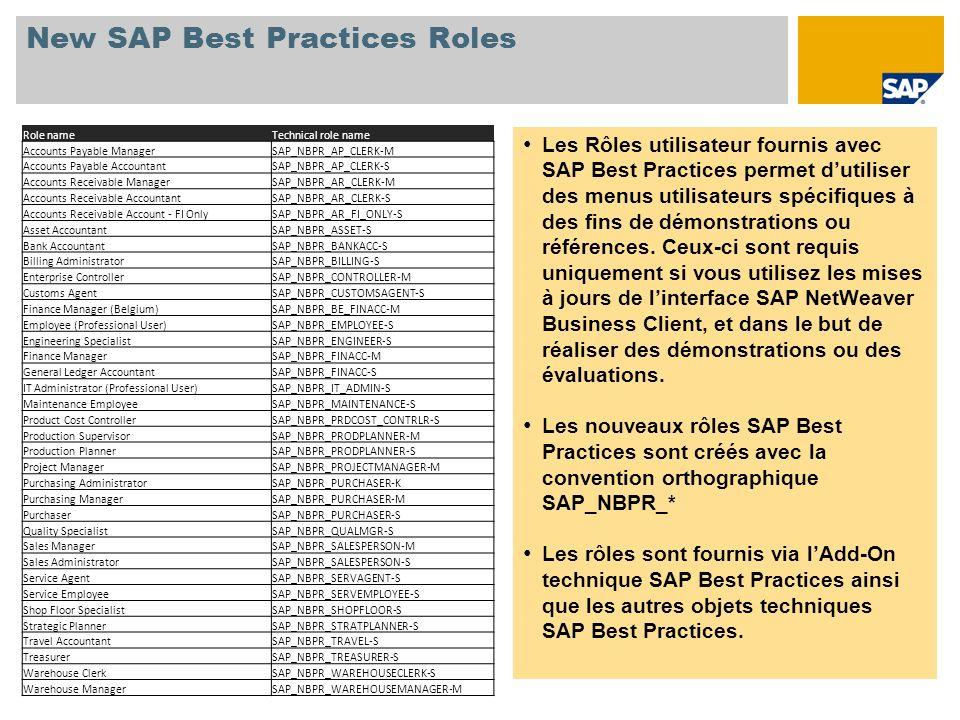 New SAP Best Practices Roles