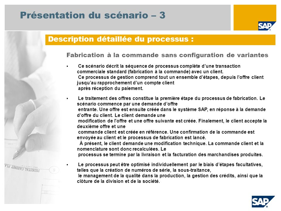 Présentation du scénario – 3