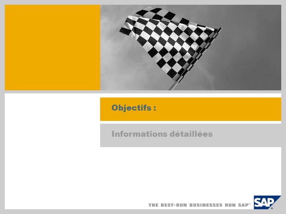 Objectifs : Informations détaillées