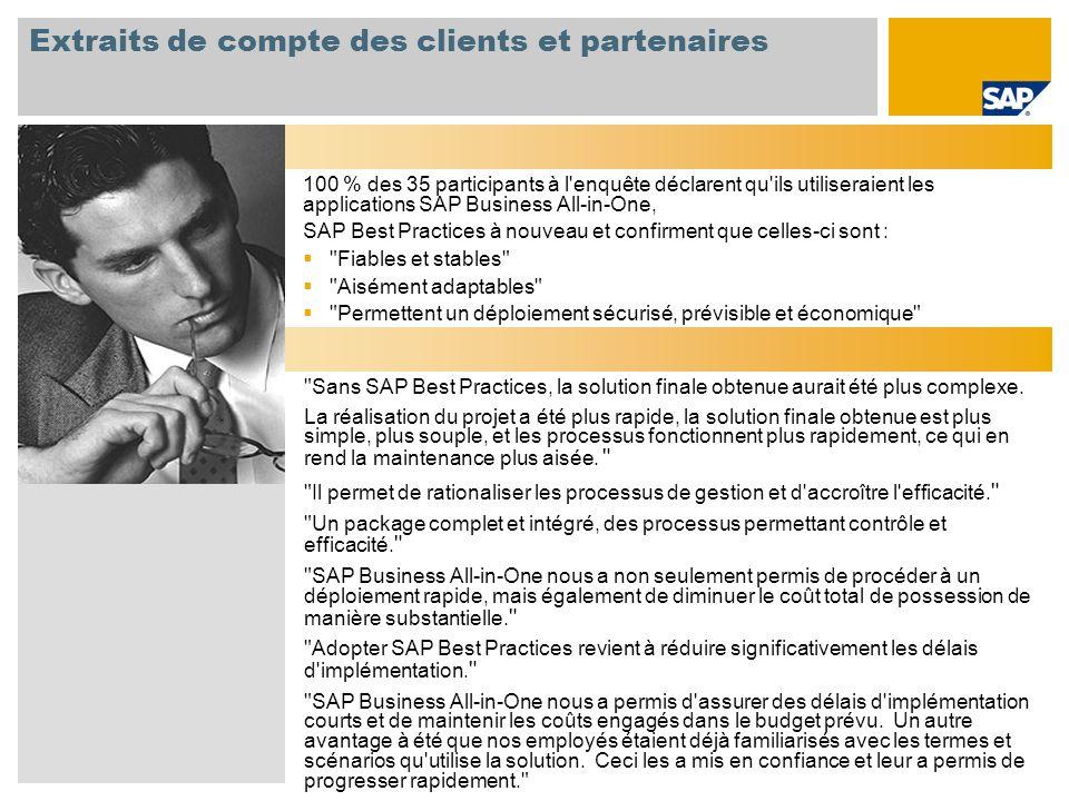 Extraits de compte des clients et partenaires
