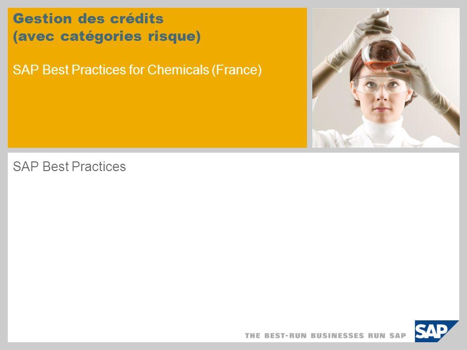 Gestion des crédits (avec catégories risque) SAP Best Practices for Chemicals (France)