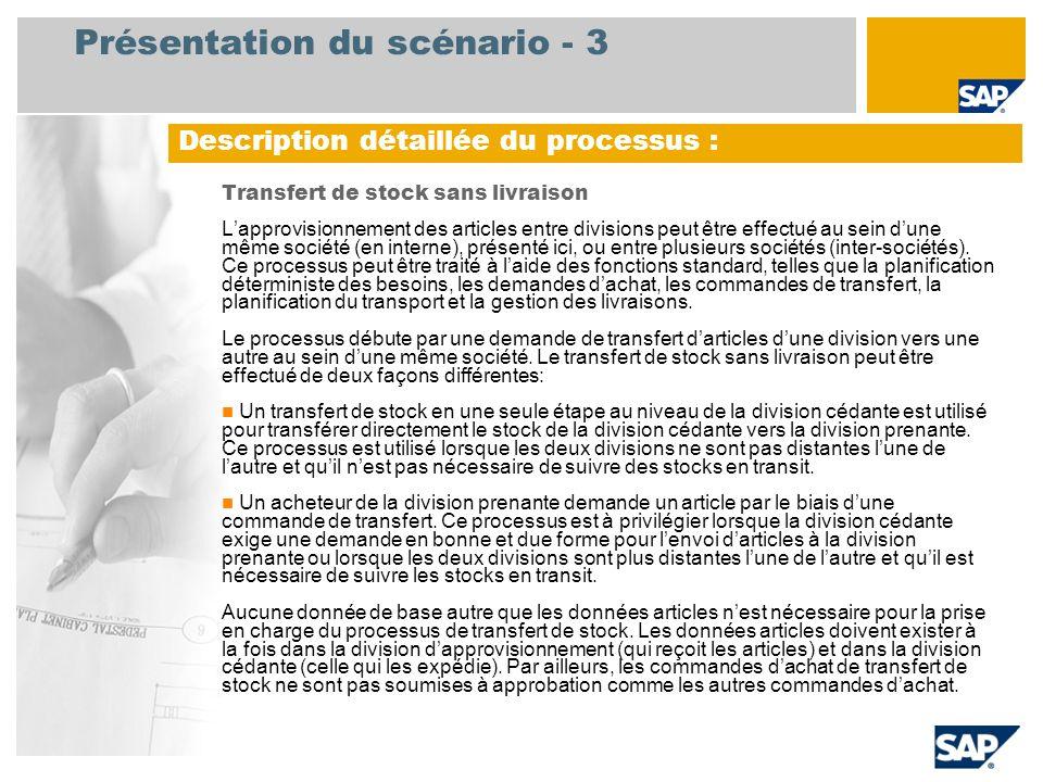 Présentation du scénario - 3