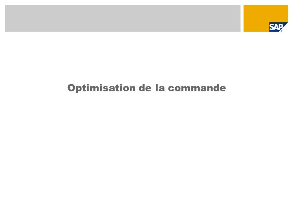 Optimisation de la commande