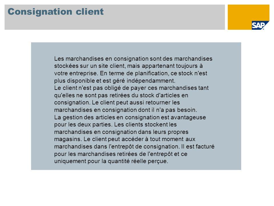 Consignation client
