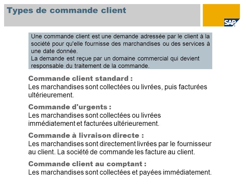 Types de commande client